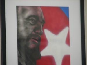 Portrait of Fidel Castro by Antonio Guerrero, one of the Cuban 5